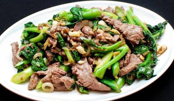 Chicken/Beef/Shrimp with choice of Bok Choy/Green Beans/Broccolli - Gà hoặc Bò hoặc Tôm Xào Rau Cải